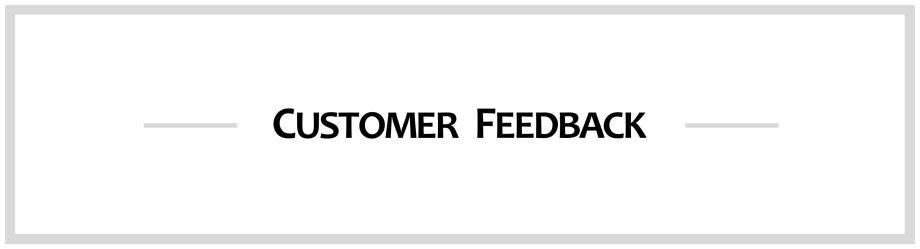Customer Feedback 9pt Border